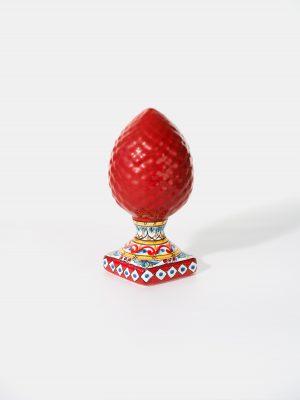 Pigna Rossa piede decorato Terrecotte del Sole