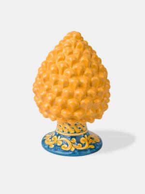 pigna gialla decorata terrecotte del sole