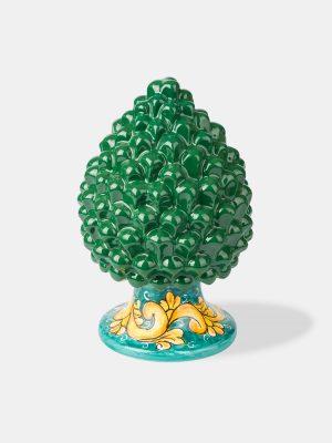 pigna verde decorata terrecotte del sole